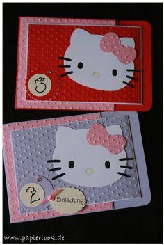 ~ Hello Kitty ~ Einladungen zum Kindergeburtstag ~