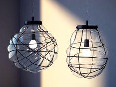 Organic Blown Glass Pendant by kit bukoros, via Behance