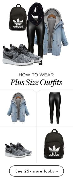 """""""walking time"""" by naomy-nona on Polyvore featuring Studio, adidas Originals, NIKE and chicka-d"""