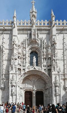 The entrance to the Hieronymite Monastery, Belem, Lisbon E Journals, Restaurant Specials, South African Wine, Wine Education, Belem, New View, Lisbon, Barcelona Cathedral, Entrance