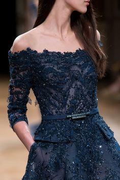 Ziad Nakad at Couture Fall 2016 - Details Runway Photos Couture Mode, Style Couture, Couture Fashion, Blue Wedding Dresses, Formal Dresses, Kebaya Dress, Mom Dress, Elegant Outfit, Beautiful Gowns