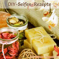 Seife herstellen - Seifen-Rezept: Naturseife selber machen aus nur 4 Zutaten - mit duftenden ätherischen Ölen ...