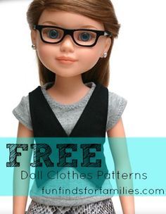 FREE doll clothes patterns - Fits American Girl and other 18-inch dolls
