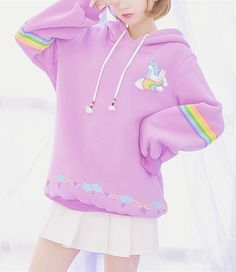 rainbow unicorn hoodie // perfect world // discount code: lovely7