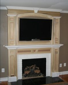 DIY Fireplace Makeover | Fireplace mantles, Mantle and Moldings