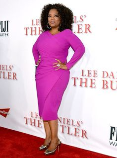 Loving Oprah's pop of colour!