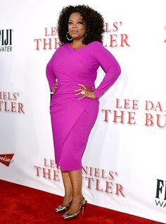 Loving Oprah's pop of colour!