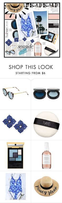 """Seaside Resort"" by foreveryoung210 ❤ liked on Polyvore featuring Oris, Illesteva, Piranesi, NARS Cosmetics, Herbivore, Jane Iredale and Old Navy"