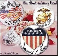 Yummy Chocolate Treats For The Guests!    Military Patriotic Wedding Favors Hershey Circle
