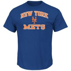 New York Mets Majestic Heart and Soul T-Shirt - Royal