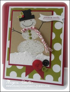 Stampin up Snow Day stamp set.