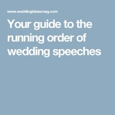 Your guide to the running order of wedding speeches
