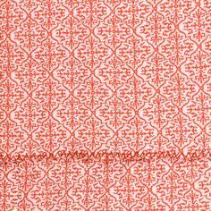 Mandarin printed bedspread