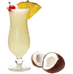 Pina Colada Mix Get a feeling of the tropics with this creamy, slushy blend of coconut, pineapple and rum!