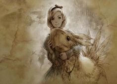 Young Princess Ashe with Chocobo art. Final Fantasy XII