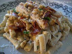 Gorgonzola Pasta with Bacon, Chicken and Walnuts