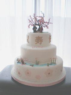 japanese Inspired Wedding  | Japanese inspired wedding cake — Round Wedding Cakes