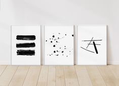 Excited to share the latest addition to my shop: Black and White Abstract Print Set, Print Set of Modern Printable Set, Minimalist Poster Set, Watercolor Wall Art, Black Digital Art Family Wall Decor, White Wall Decor, Pink Wall Art, Modern Wall Decor, Wall Art Sets, Black And White Wall Art, Black And White Abstract, Black White, Airy Bedroom