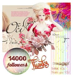 """Thank you, 14000 followers"" by irinavsl ❤ liked on Polyvore featuring art"