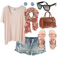 I would wear this outfit because it's comfy and cute and I really love the flowy t-shirt. This outfit would be cute for a summer day out, but I also wouldn't get too hot.