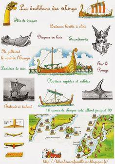 Le bonheur en famille: L'histoire des bateaux 2, les galères romaines et grecques,puis les drakkars vikings...