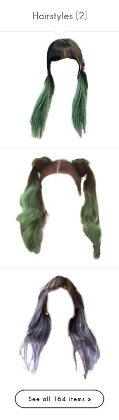 """Hairstyles [2]"" by demiwitch-of-mischief ❤ liked on Polyvore featuring hair, hairstyles, cabelos, doll hair, doll parts, cabelo, dolls, beauty products, haircare and hair styling tools"