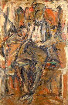 Portrait Of Willem de Kooning--Elaine de Kooning