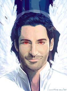 Painting I spent a lot of free time yesterday doing of tom ellis as Fox's new series lead, Lucifer! THE FINALE? GREAT. THE AESTHETIC OF THIS SHOW? WONDERFUL. i'm so surprised by the lack of fanart i've seen for it! but i am MORE than happy to provide!so excited for season 2!!(ノ´ヮ´)ノ*:・゚✧