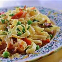 Pasta with Bacon and Peas - Allrecipes.com