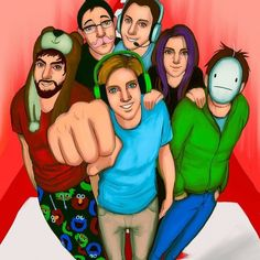 Pewdiepie cryaotic cinnamontoastken therpgminx markiplier and I think that might be seananers