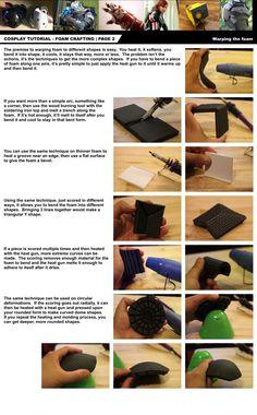 Cosplay Tutorial Page 2: Foam Bending by ~HoiHoiSan on deviantART