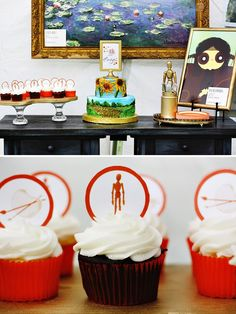 Orange & Gold Museum Inspired Art Gallery Party // Hostess with the Mostess®