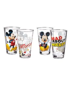 Love this Mickey Mouse Tumbler - Set of Four on #zulily! #zulilyfinds