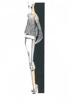 Fashion illustration - fashion sketch for Pringle of Scotland