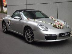 Wedding Events, Wedding Reception, Weddings, Wedding Cars, Porsche, Bridal Car, Wedding Car Decorations, Rose Bouquet, Wedding Designs