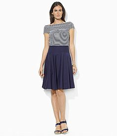Lauren Ralph Lauren StripeBodice Dress #Dillards