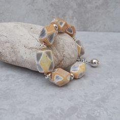 Lemon Agate  & Sterling Silver Bracelet (29) £36.00