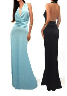 $23.99 Cold Back and Deep V Ceremonial Robe Dress www.maxfancy.com/...