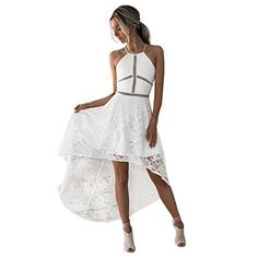 Wawer Formal Prom Dress for Women, Evening Bridesmaid Sleeveless Dresses,Lace Mid-Calf Ball Gown Dress for Party/Cocktail/Wedding (L, White) Formal Dresses For Weddings, Party Dresses For Women, Formal Gowns, Cheap Dresses, Formal Prom, Dress Formal, Party Gown Dress, Ball Gown Dresses, Club Dresses
