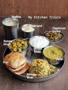 Hearty Maharashtrian Thali #indian #cuisine @mykitchentrial
