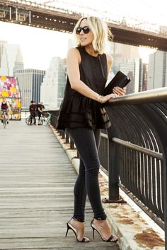 all black chic outfit