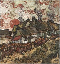 Vincent van Gogh, Cottages: Reminiscence of the North, 1890