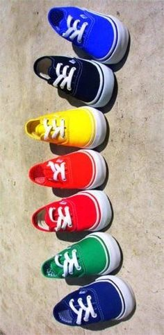 Brightly colored shoes