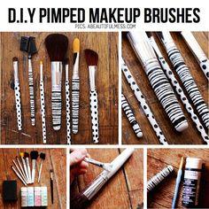 DIY makeup brush design