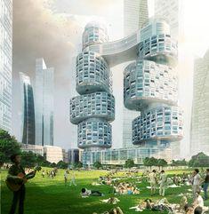 asymptote architecture: velo towers - YIBD