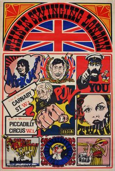 """electripipedream: """" A Lord Kitchener's Valet Poster This Is Swinging London 1966 """" Psychedelic Fashion, Psychedelic Posters, London Poster, Las Vegas, Swinging London, Carnaby Street, Kunst Poster, Cartoon Pics, Cartoon Picture"""