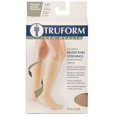 Truform Anti Embolism Knee High Close Toe 18 mmHg of Compression Stockings. Anti-embolism Knee High Closed Toe Doctor-recommended for the recuperating patient, Truform 8808 Anti-embolism Stockings are designed to help reduce the danger of thromboembolic disease. They are also ideal for use with the post-surgical, home convalescing patient. The closed toe offers a more natural stocking feel, ideal for limited, early ambulation. Beige and black color options allow for a more attractive…
