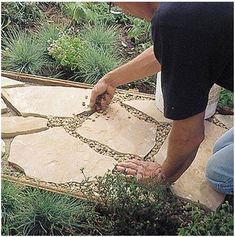 Make your own stormwater filtering flagstone path