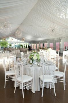 I'd probably add Blush Tulle to the chairs. But, otherwise it's Perfect! Hollywood-Inspired Chicago Wedding~ MODwedding