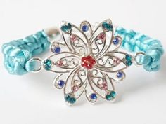 Beautiful blue handmade bracelet